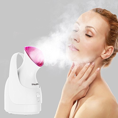 Mist Moisturizing (Spaire Facial Steamer for Face,Face Steamer Professional Sauna Nano Ionic Atomizing for Skin Care Unclog Pores and Blackheads Hot Mist Humidifier, Moisturizing Cleansing)