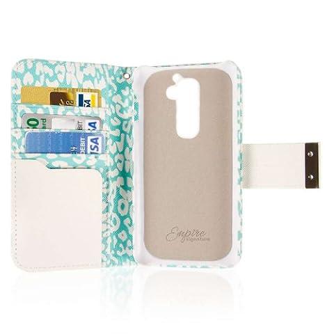 LG G2 Wallet Case, EMPIRE KLIX Klutch Designer Wallet [4 Slots] Inner Hard Polycarbonate Felt Lining Case for G2 with Magnetic Flap & Hand Strap [Perfect Fit & Precise Port] - Mint (Lg G2 Phone Case Magnetic)