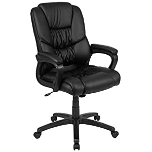 Big and tall soft leather office chair