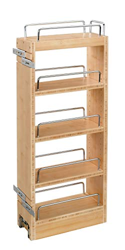 Extender Rail Rack Bracket - Rev-A-Shelf - 448-WC-8C - 8 in. Pull-Out Wood Wall Cabinet Organizer