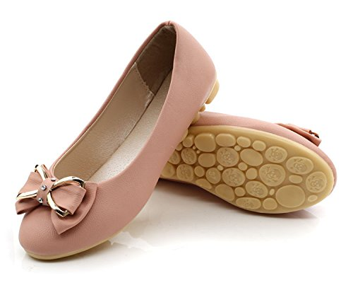 Shoes Pink Shoes Flat Ballet Mujer Flats Single Round Toe Casual Women's zwqxBvtFw
