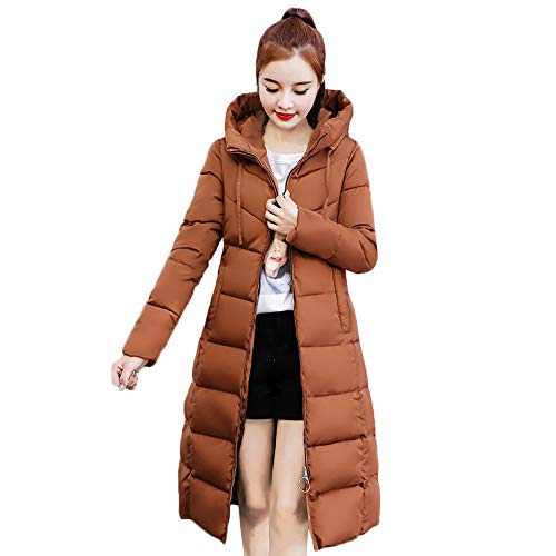 Coats For Women On Sale, Clearance!! Farjing Women Winter Sale Jackets Coat Long Thicken Warm Hooded Padded Coat(S,Brown ) ()
