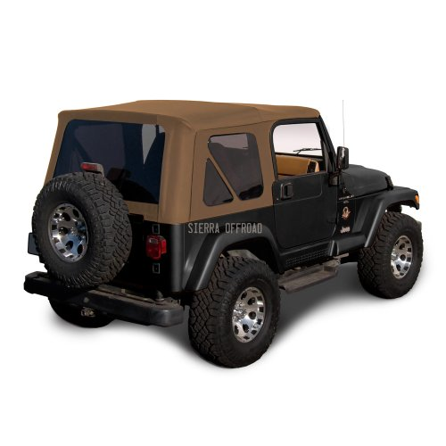 - Sierra Offroad Jeep Wrangler TJ (1997-2002) Factory Style Soft Top with Tinted Windows, without Upper Doors (Denim Spice)