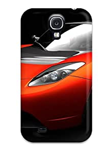 Jeremy Myron Cervantes Perfect Tpu Case For Galaxy S4/ Anti-scratch Protector Case (tesla Roadster Sports Car)