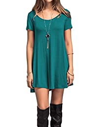 Adreamly Women's Swing T Shirt Short Sleeve Casual Flare Tunic Tops