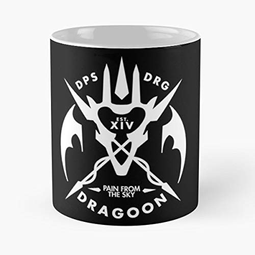 Dragoon Classic Mug - The Funny Coffee Mugs For Halloween, Holiday, Christmas Party Decoration 11 Ounce White Leinstudio.