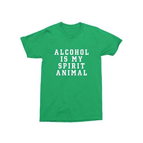 Day Owl Alcohol Is My Spirit Animal ST. Patrick's T-Shirt (X-Large)