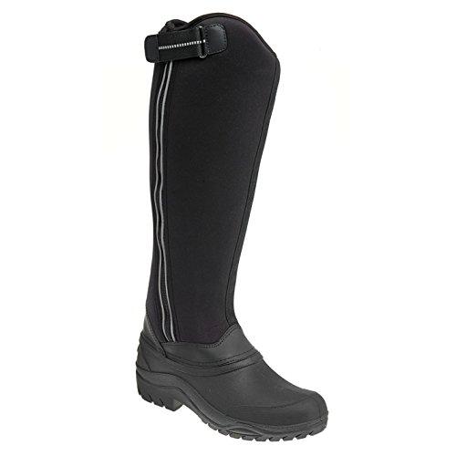 Harry Hall Bottes d'équitation en néoprène gel pour femme Noir Equestrian Chaussures