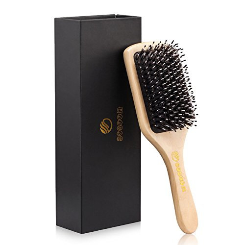Boar Bristle hair brush-Sosoon Best Hairbrushes for Long,Thi