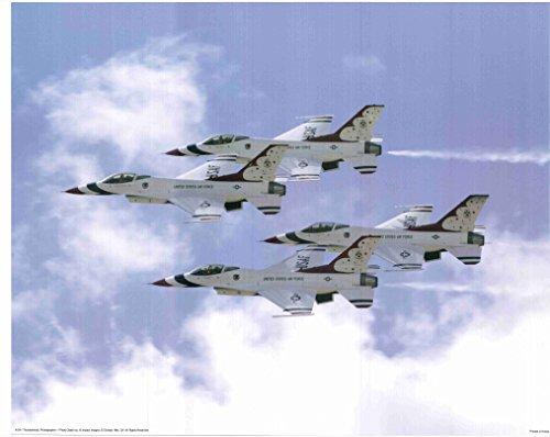 Military Flying Thunderbird Jets Airplane Aviation Wall Decor Art Print Poster (16x20)