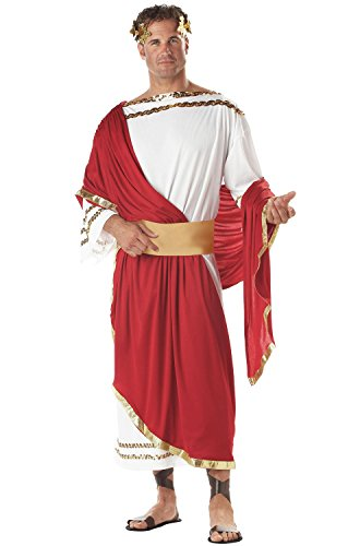 California Costumes Men's Adult-Caesar, Red/White, Standard Costume ()