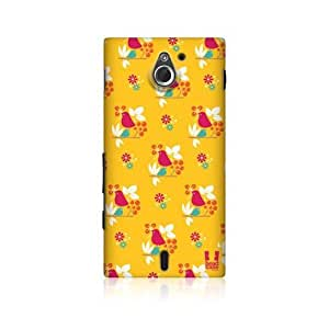 Yellow Bird Pattern Design Back Case Cover For Sony Xperia sola MT27i