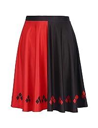 HDE Women's Fun Print High Waist Flared A Line Skater Skirt Cute Patterns