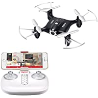 Skytoy Mini Rc Quadcopter Drone with HD Camera Live Video 2.4Ghz Remote Control WIFI FPV Drone Black
