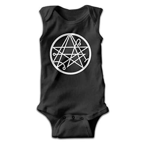 Fillmore-M Newborn Babys Boy's & Girl's Necronomicon Logo Sleeveless Bodysuit Baby Onesie For 0-24 Months Black Size 12 Months
