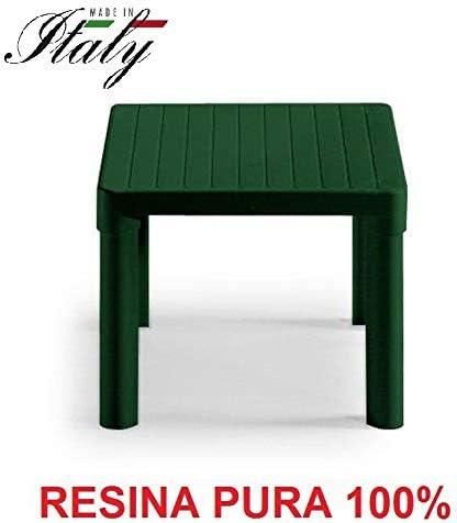 ALTIGASI Mesa Baja - Mesa Verde Bosque para Exterior Modelo Tip de Resina Medidas 47 x 47 x 38 H cm - Made in Italy: Amazon.es: Jardín