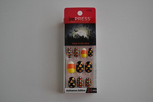Halloween Nails (Impress Press-on Manicure Glow in the Dark Halloween Edition Nails - Hide-n-Freak)