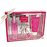 PARIS FASHION - Gift Set Impression of PARIS HILTON. Set Includes 1.7 oz. Perfume, 3 oz. Moisturizing Body Lotion, and 0.7 oz Mini Perfume with a .14 oz. Lip Gloss on a Keychain