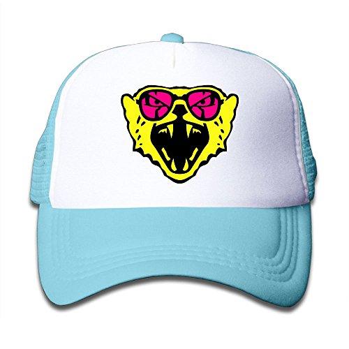 Kkidj Ooii Mesh Baseball Caps Boy&Girl Youth Snapback Hat Cheetah Sun - Glass Hutt Sun