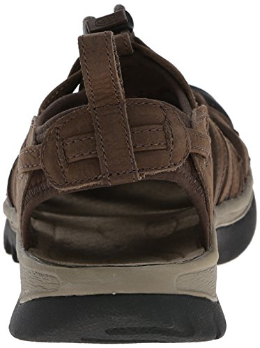 Keen Women's Whisper Leather Hiking Shoe, Brown, US Cascade Brown/Brindle