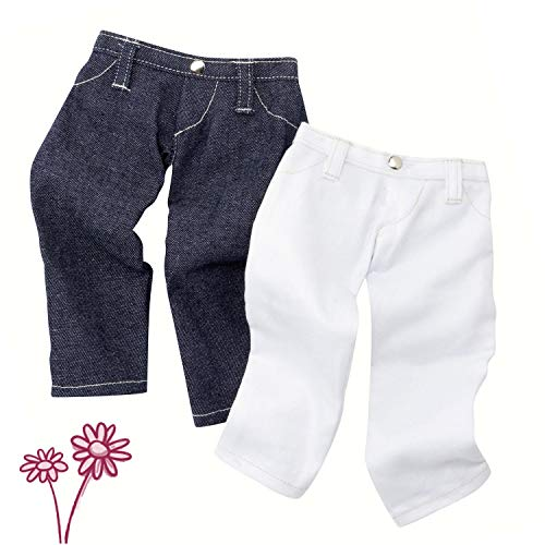"""Gotz Two Pairs of Jeans for 18"""" to 19.5"""" Dolls"""