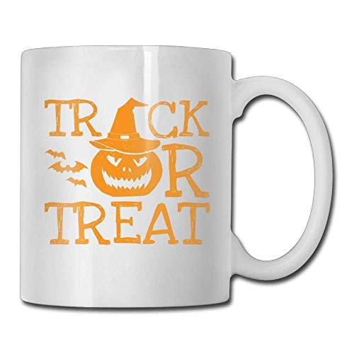 Halloween Scary Pumpkin Face Treat Custom Coffee Mug 11 Oz Female Anniversary Ceramic Gifts Tea Cup ()