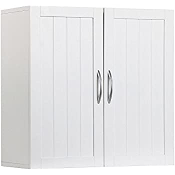 bathroom wall cabinets white. Topeakmart White Wooden Bathroom Wall Cabinet Toilet Medicine Storage  Organizer with Adjustable Shelf Cupboard Unit Amazon com Sauder Soft Finish Kitchen Dining