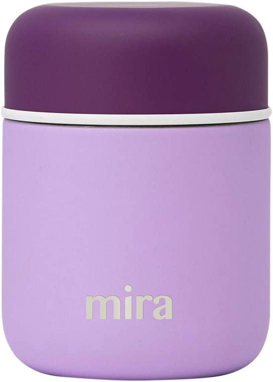 MIRA 9 oz Lunch, Food Jar - Vacuum Insulated Stainless Steel Lunch Thermos - Lilac