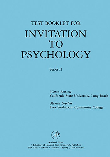 Test Booklet for Invitation to Psychology: Series II