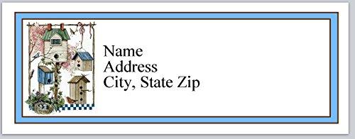 (120 Personalized Return Address Labels Primitive Country Birdhouses (bx 360))