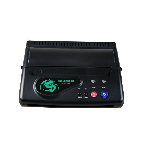 Dragonhawk Black Tattoo Transfer Stencil Machine Thermal Copier Printer Machine ZY003 ()