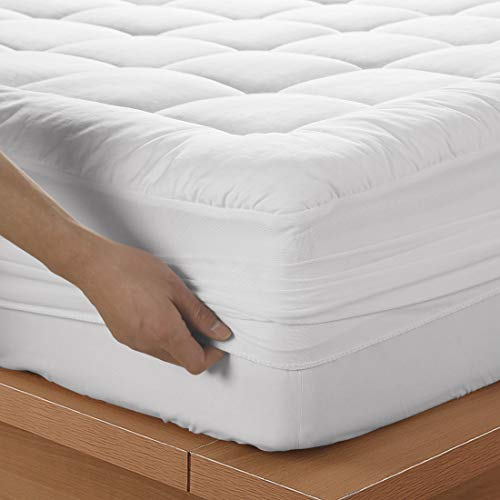 EMONIA 12 inch Memory Foam Mattress Washable Bed Mattress Cover (Queen1, White)