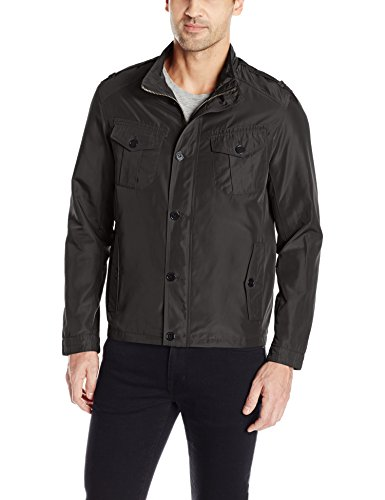 Cole Haan Signature Men's Open Bottom Packable Trucker Jacket, Black, XX-Large