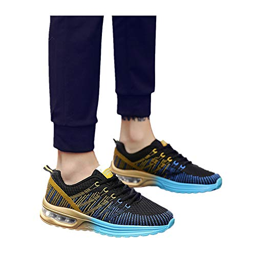 c9615a3e6e33 Men's & Women Lightweight Sneakers Breathable Outdoor Mesh Casual Athletic  Sport Running Shoes (Blue -Men, US:7.0)