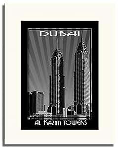 Al Kazim Tower Black And White F05-m (a1) - Framed