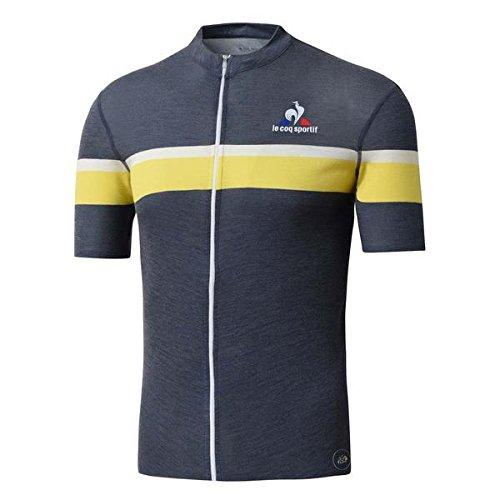 Le Coq Sportif Trikot Merino Stripes SS bleu-Jaune 2016