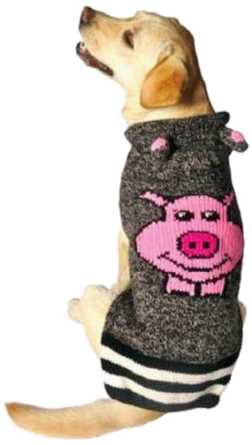 Chilly Dog Piggy Hoodie Dog Sweater, Small, My Pet Supplies