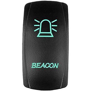 Amazon Com Stvmotorsports Laser Backlit Green Rocker