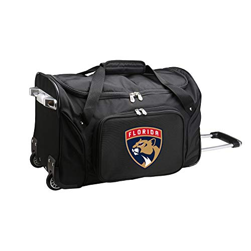 NHL Florida Panthers Wheeled Duffle Bag, 22 x 12 x 5.5