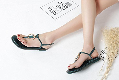 Eu35 strap Uk3 Zapatos Cn35 Roman Flip Us5 Meili 5 Herringbone Toe Zapatos T Sandalias 5 wFwPXq7
