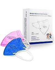 LENGGE 10 stuks maskers voor kinderen van 4 tot 13 jaar, afzonderlijk verpakt, CE-certificering