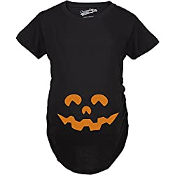 Maternity Cartoon Eyes Pumpkin Face T-Shirt