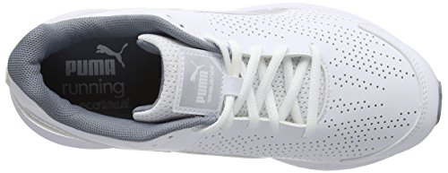 Puma Sequence Synthetic Leather W, Women's Running Shoes White/Puma Silver
