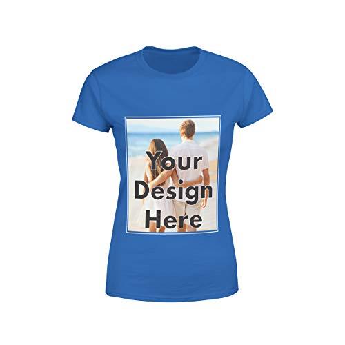 - Arokan Customize Shirts for Women Men Custom T Shirts Design Your Own Crew Neck Mens Womens Personalized Tshirts (Royal Blue - Women, Small)