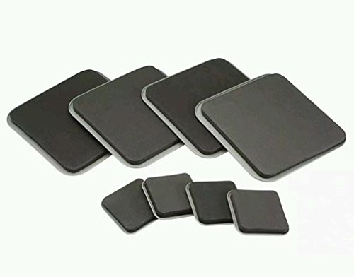 8pc Magic Moving Sliders Furniture Pad Protectors Sliders Floor Wood Carpet Move (Sliders Tripods)