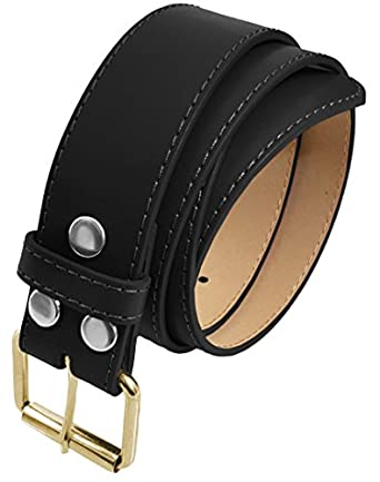 LUNA Top Quality Snap-On Gold Buckle Thick Wide Leather