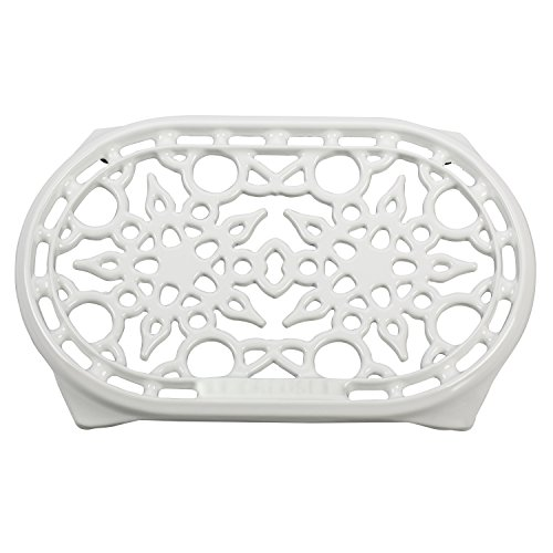 Le Creuset White Enameled Cast Iron 10.5 Inch Oval Trivet by Le Creuset