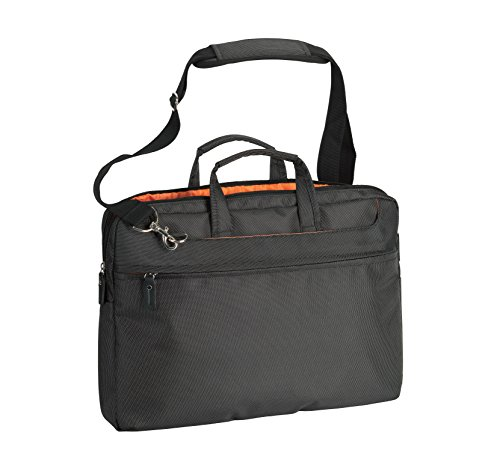 CRISTO Borsa Messenger, multicolore - Nero/arancio, CTG29017_noir/orange_33