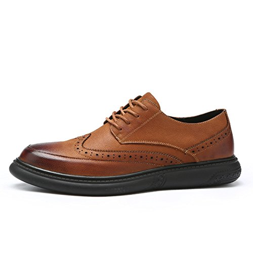Casuales Caramel La Los Tallaron Nuevos Zapatos Moda Hombres 2018 Negocios Yxlong De AYwRn4qaa