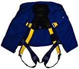 3M DBI-SALA Delta 1107415 Full Body Non-Reflective Workvest Harness, Back D-Ring, Tongue Buckle Leg Straps, Small, Blue